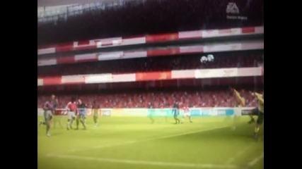Man.utd Vs Arsenal 1-4 Robin Van Persie Fifa 10
