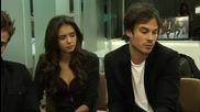 Tthe Vampire Diaries Видео интервю на главното трио 2
