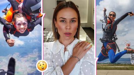 Маги Джанаварова полетя с парашут: Сбъднах една своя мечта