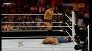 Wwe Raw 23.8.2010 John Cena vs The Miz Danial Bryan interference Part 1