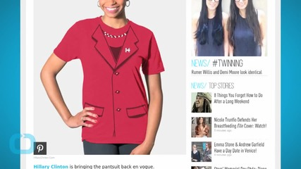 """Hillary Clinton's """"Everyday Pantsuit Tee"""" Can Be Yours"""
