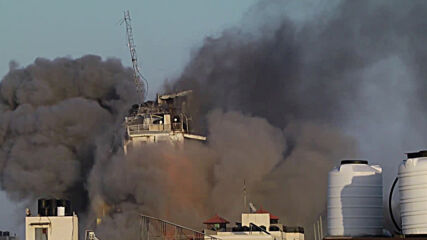State of Palestine: Gaza City Al Sharuk tower completely collapses following IDF bombing