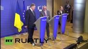 Belgium: Poroshenko calls for immediate implementation of fresh Minsk ceasefire