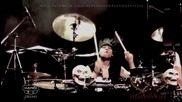 Heavens Fire drummer Alexis Von Kraven Drum Solo - Heavens Fire Judgement Day Tour 2013