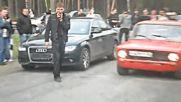 Напомпана жигула срещу сравнително ново Audi A4!