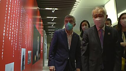 Japan: IOC's Bach visits Tokyo's Olympic Agora exhibition