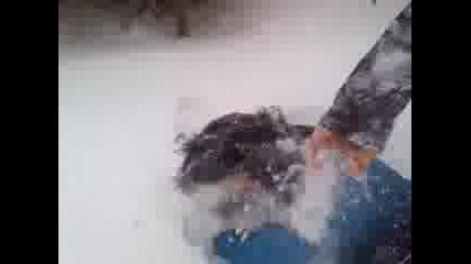 бой в снега