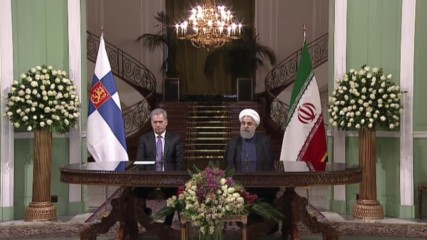 Iran: Finnish, Iranian Presidents to expand cooperation - Rouhani