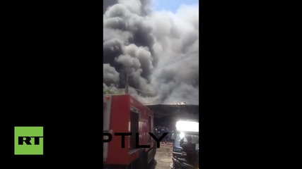 Огромен пожар в Тайланд