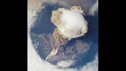 Изригване на Sarychev Peak - Nasa видео от международна космическа станция