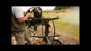 Shooting a 200 round belt of .50 Bmg ammo