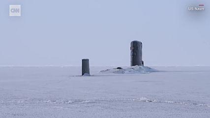 Us подводници замръзнаха
