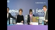 Ebu press Conference with Lyss Assia and Dima Bilan