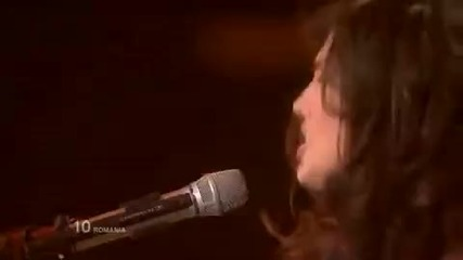 Трето място на Евровизия 2010 - Румъния - Paula & Ovi - Playing with fire • romania eurovision 2010