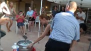 Kayla shows how to Kegstand at her Grad Party