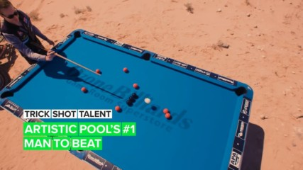 Trick Shot Talent: Check out an 8-time artistic pool World Champ