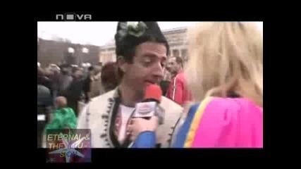 Супер Бианка дрънка на чанове в Перник, Шоуто на Иван и Андрей, 05.02.2010