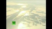 Реакторите на ядрената централа в Япония. Много близки кадтри заснети от хеликоптер над нея