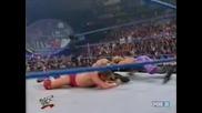 W W F Smackdown.04.12.2001 Крис Джерико и Крис Беноа с/у Уилям Ригал Кърт Енгъл и Острието и Крисчън
