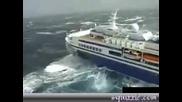 луксозен кораб за малко да потъне