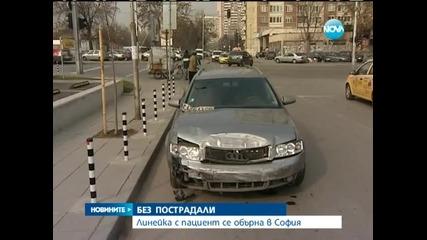 Линейка с пациент се обърна в София - Новините на Нова