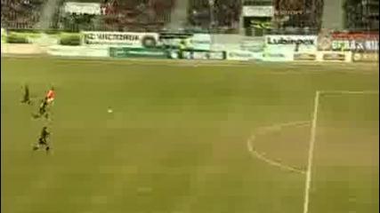 Илиян Мицански с гол стил Марадона * ! Заглебие - Полония 2:0