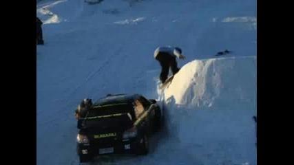 Subaru Wrc Vs Snowboard Extrem Sport