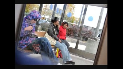Prank Of The Week Ppl Bug Out When They See Some Youngin Sniffin Crack At A Bus Stop! [fixed]