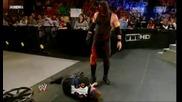 Кane прави Tombstone на Zack Ryder и Chokeslam на John Cena | Royal rumble 2012