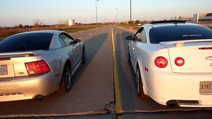 Cobalt Sstc vs. 2002 Mustang Gt