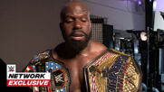 Apollo Crews poses with the new United States Title: WWE Network Exclusive, Aug, 3, 2020