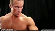 Teen Bodybuilder Benjamin Loehrer Flexes