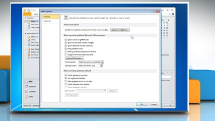 Microsoft® Outlook 2010: How to allow emoticons on Windows® 7?