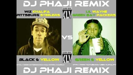 Wiz Khalifa vs. Lil Wayne - Black & Yellow vs. Green & Yellow Remix