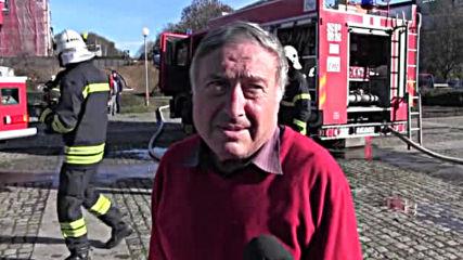 Пожар на купола на пантеона вдигна на крак огнеборците в Русе (ВИДЕО)