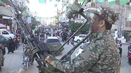 State of Palestine: Hamas group holds 31st anniversary parade