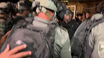 East Jerusalem: Police scuffle with Palestinians amid protests against planned evictions in Sheikh Jarrah