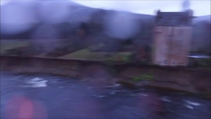 UK: Drone footage captures endangered historic castle inches from swollen river