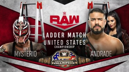 Andrade and Rey Mysterio meet in U.S. Title Ladder Match on Raw