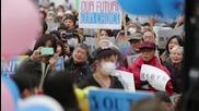 Japan: Anti-war demonstrators decry Abe's non-pacifist defence bill