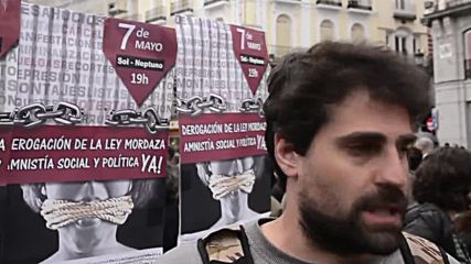 Spain: 'Against their repression, our revolution' - Madrid protests Gag Law