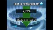 Цената на газа пада с 2,73 % от 1 април - Новините на Нова