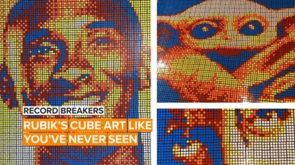 This guy makes solving Rubik's Cubes look like child's play