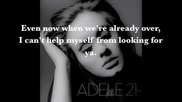 Adele s Adele - Set Fire to the Rain Lyrics