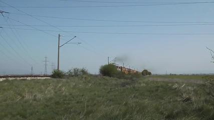 Товарен влак на Тбд в междугарието Волуяк - Храбърско