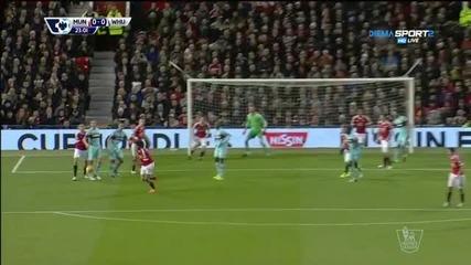 Манчестър Юнайтед - Уест Хем 0:0, 15 кръг, Висша лига