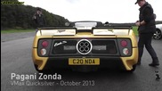 Pagani Zonda S off the line - lovely exhaust noise