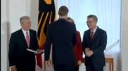 Германските национали получиха високи държавни отличия за световната титла