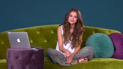 Selena Gomez Чат на живо в понеделник, юни - 1 Част За Първи Път В Сайта С Превод