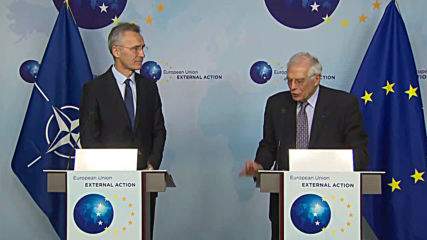 Belgium: NATO chief, EU's top diplomat pledge to take cooperation to another level